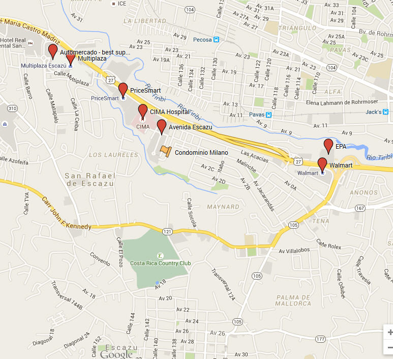 5 minute walk to CIMA hospital, close to highway 27