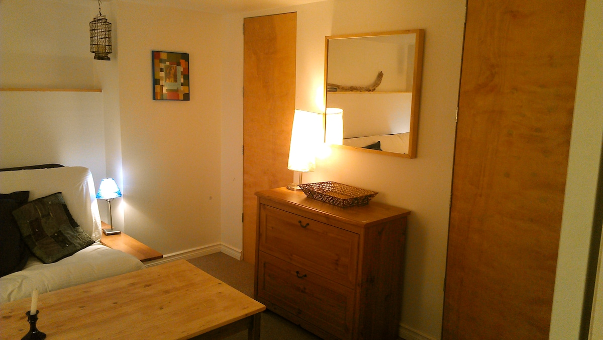 The Blue Room: wardrobe area