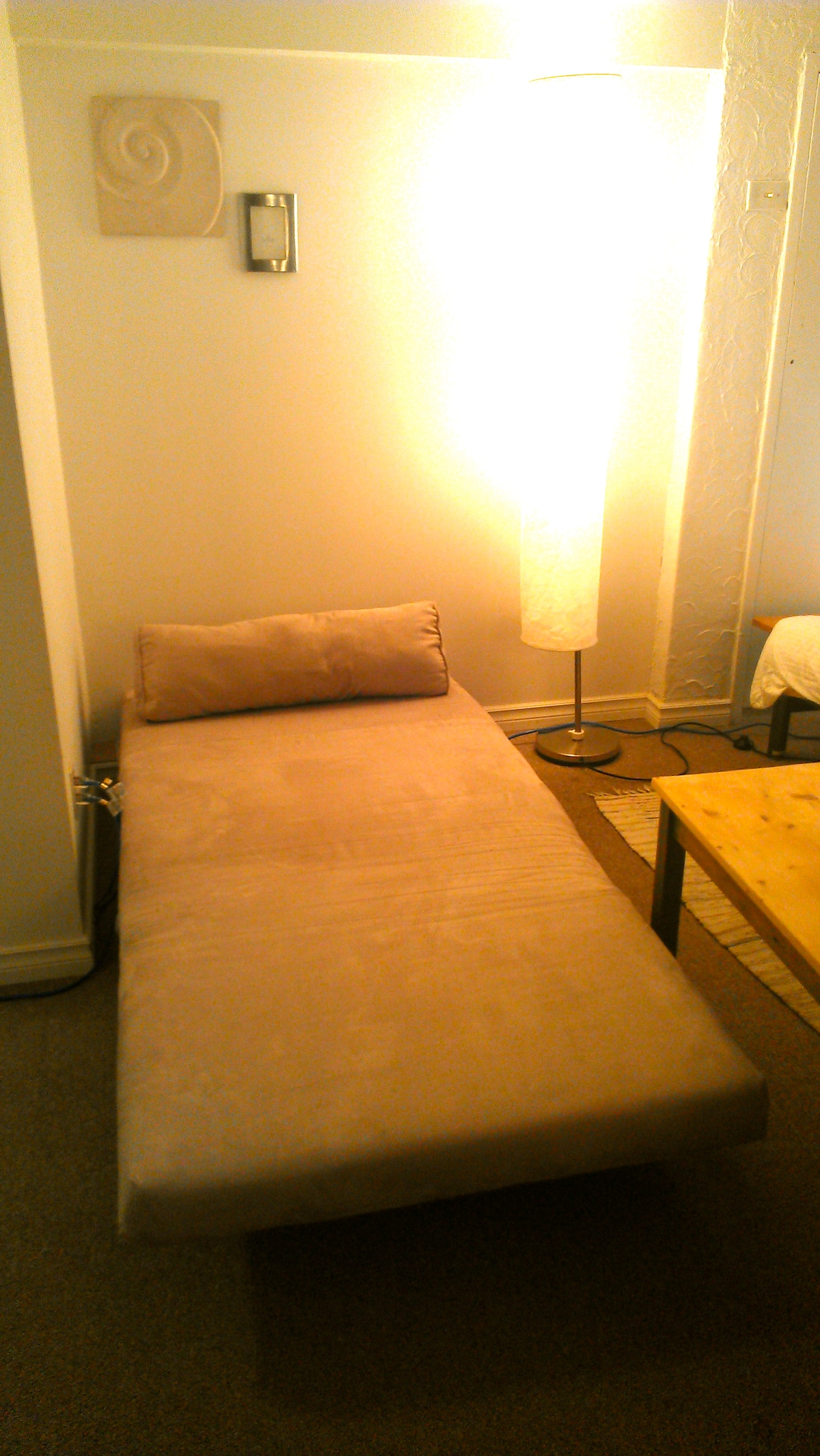 The Blue Room: chair as single bed