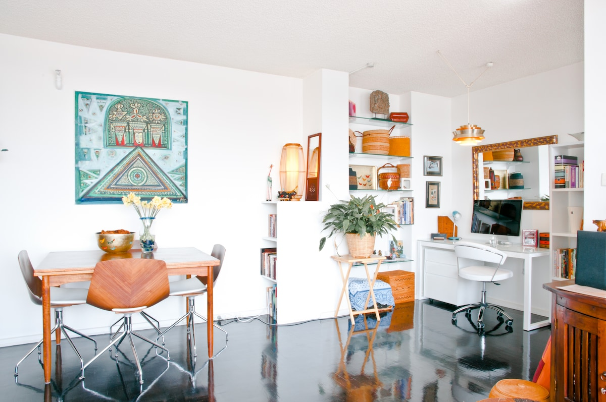 dining and office spaces