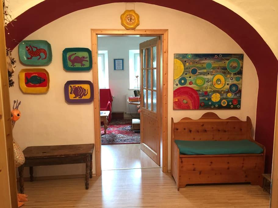 Bedroom, Bathroom, shared kitchen and livingroom - Gmünd