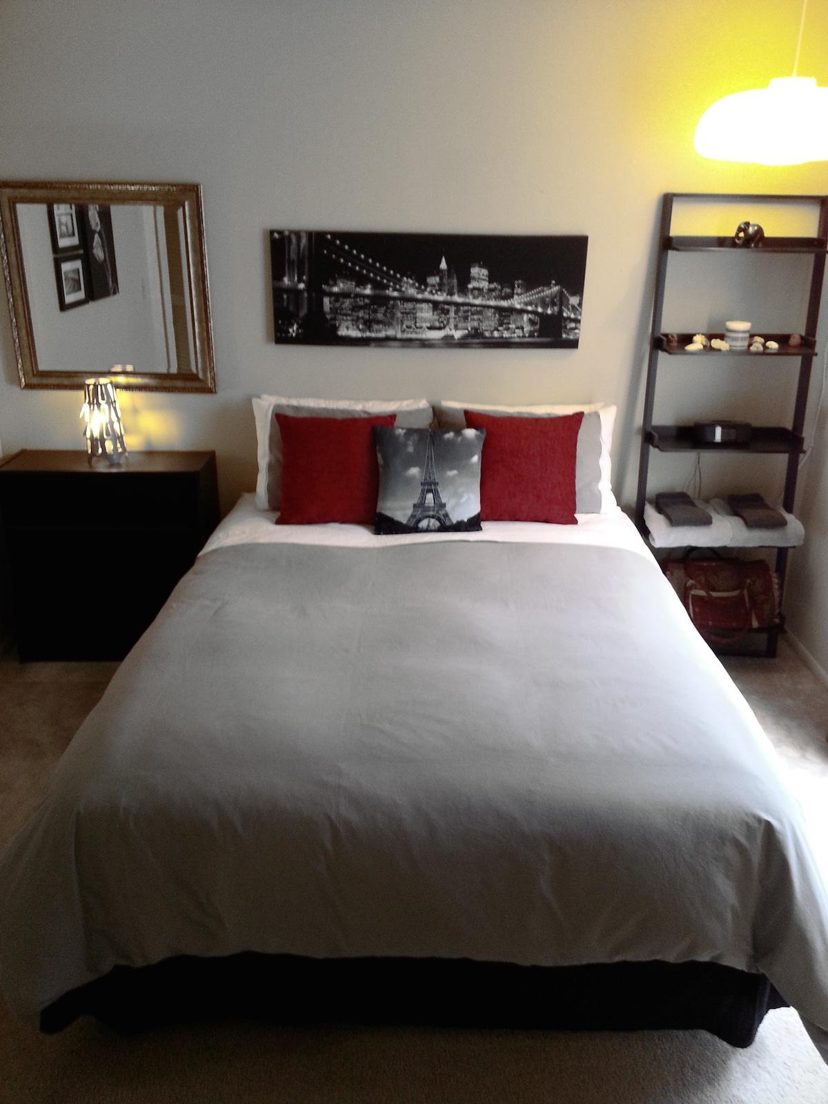 clean, neat bedroom