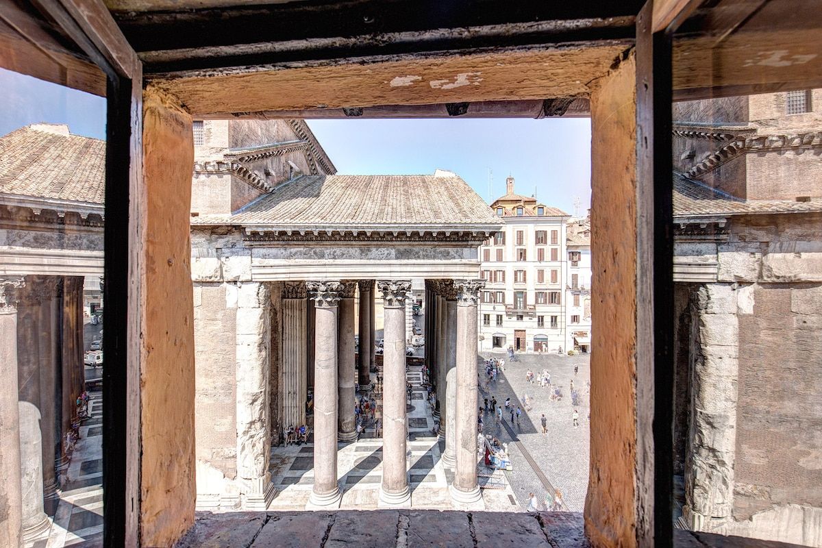 Pantheon square with amazing view
