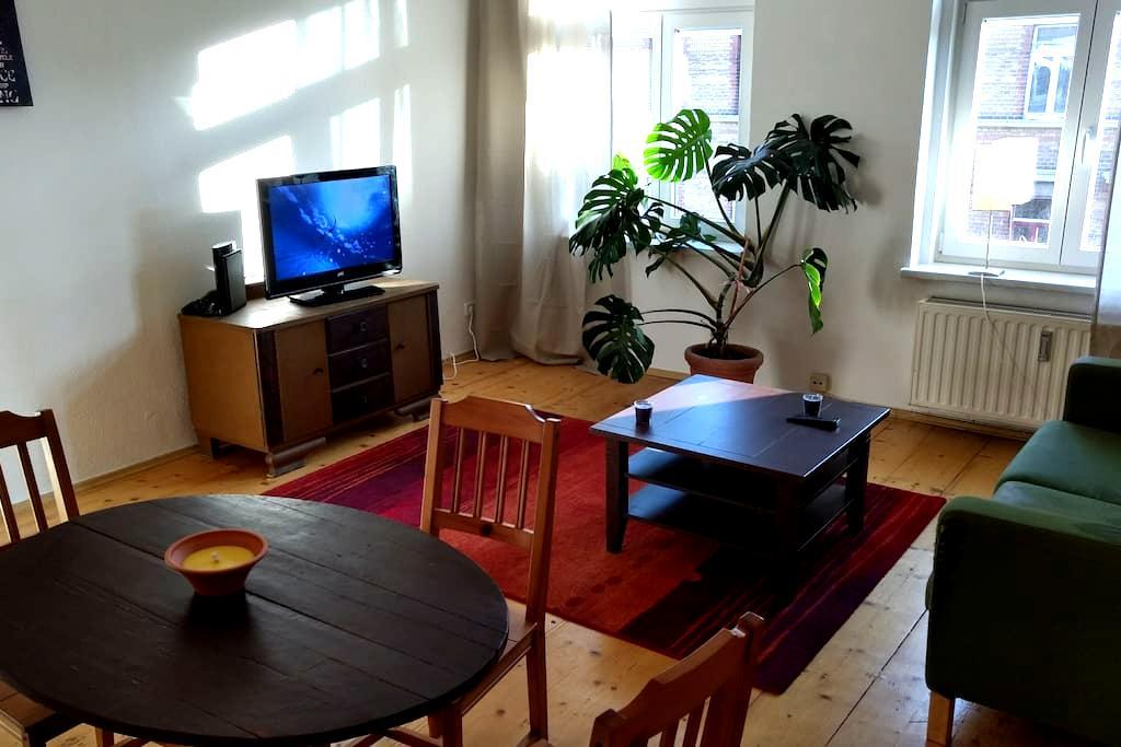 Sonnige große Wohnung 5 Tramminuten vom Zentrum - ライプツィヒ - アパート