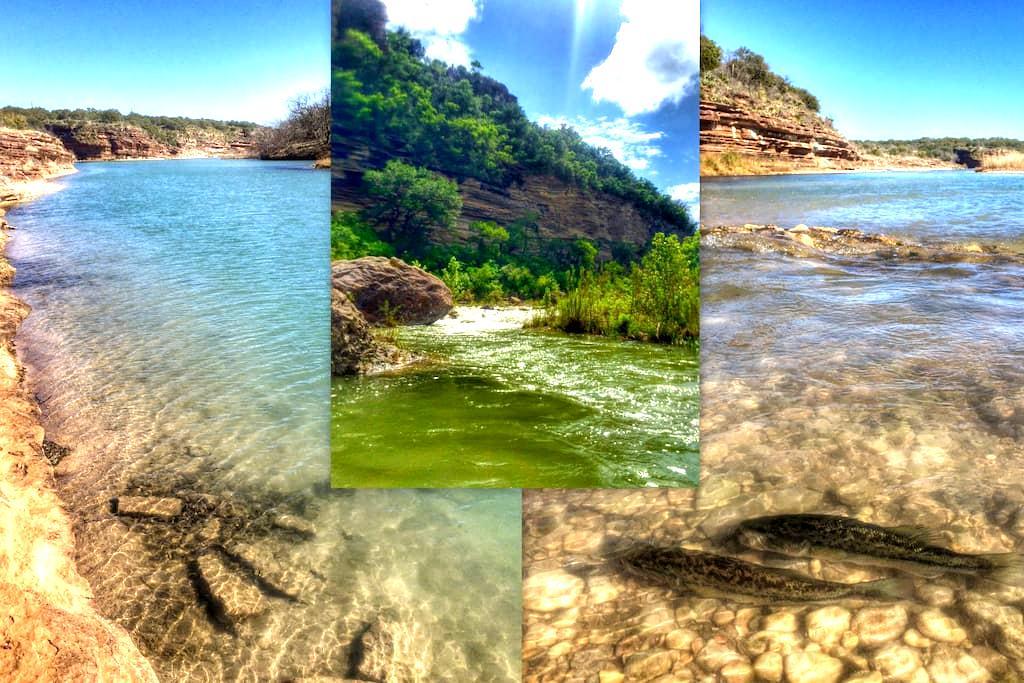 Llano River Cabin - 1 BR - Mason - Srub