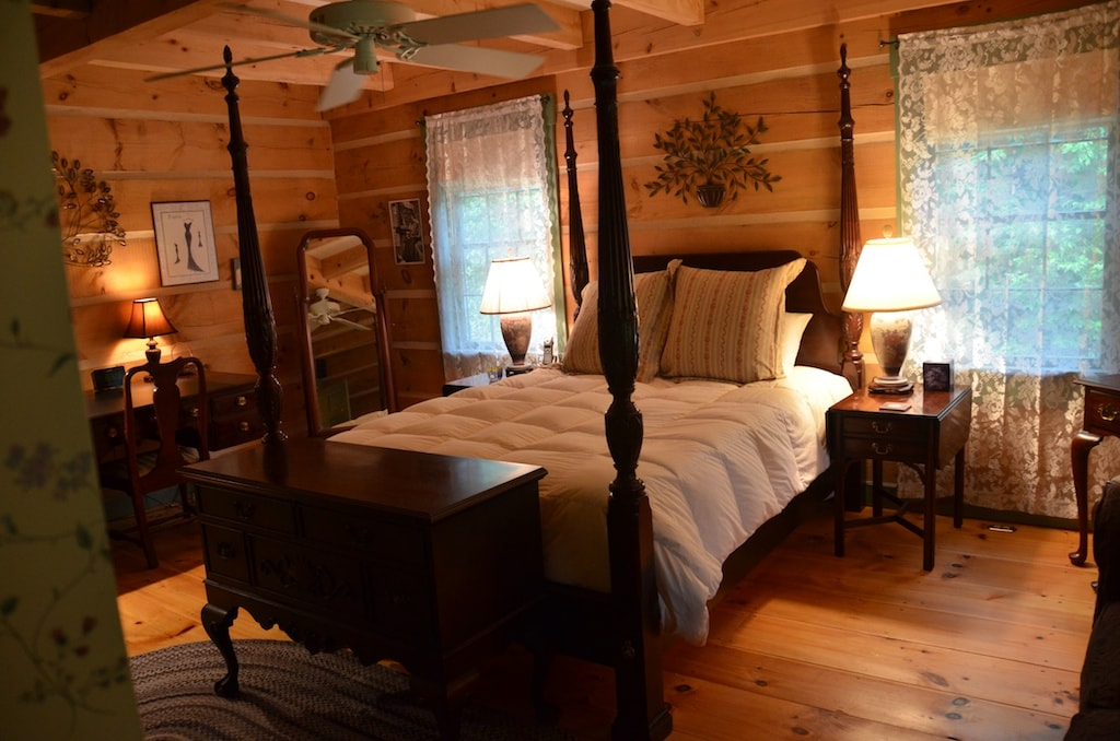 Colonial-style log home--sanctuary.