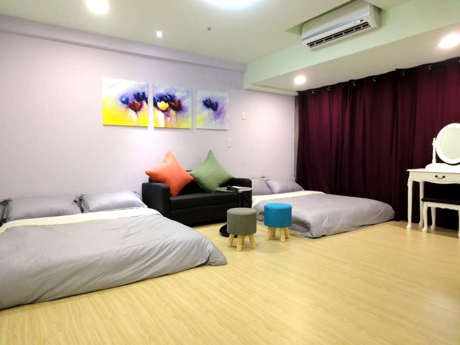 台中逢甲花園城堡(G-HOUSE)(離逢甲夜市30秒) - Xitun District - Appartement