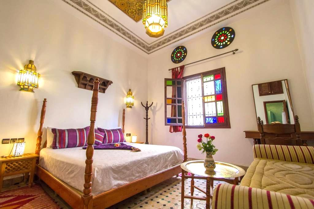 Lovely Double Room at Jardin Chrifa Top Location - Fes - Wikt i opierunek
