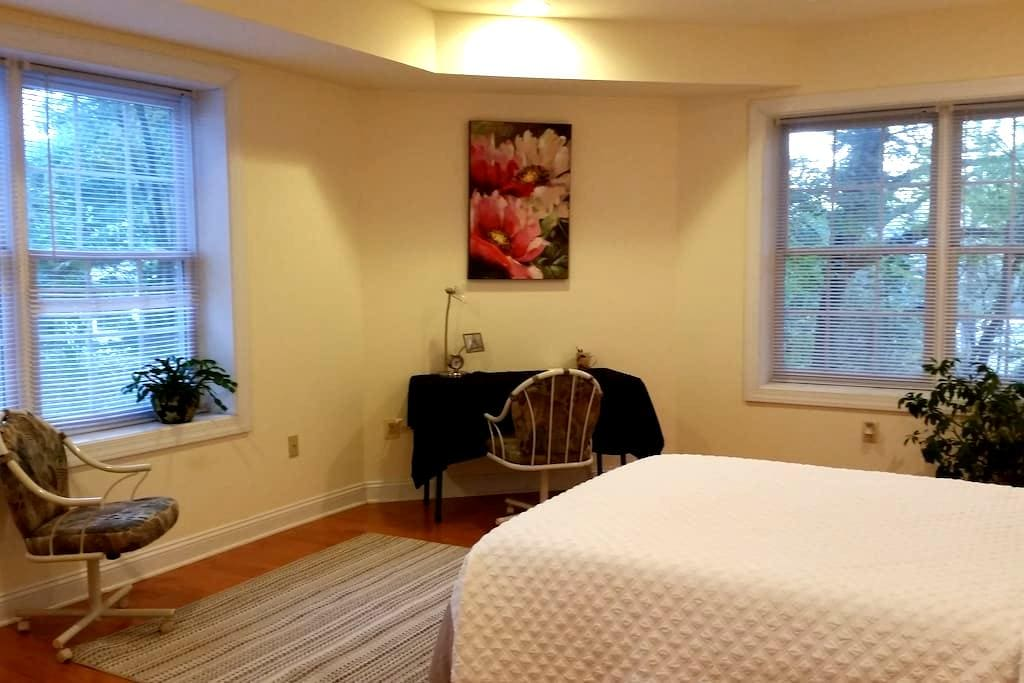 Bright, big pvt room, pvt bath in quiet green area - McLean - Dom