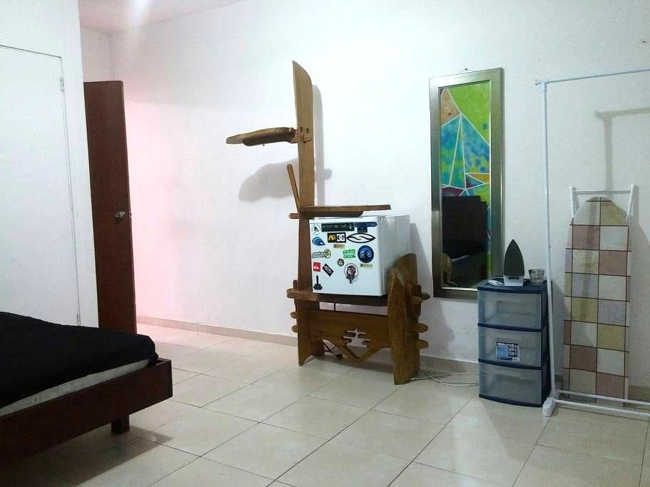 Private room, full size bed, A/C - Caguas - Apartment