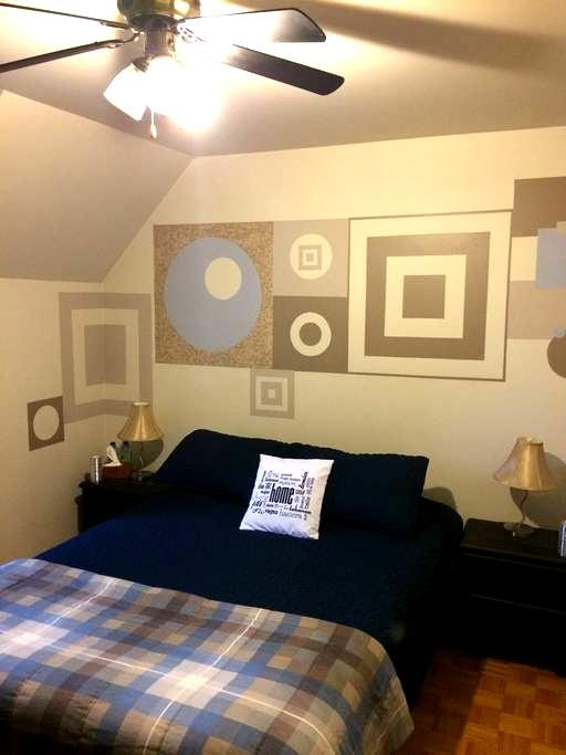 Spacious Cozy Home Blue Room - Saint-Constant - Huis