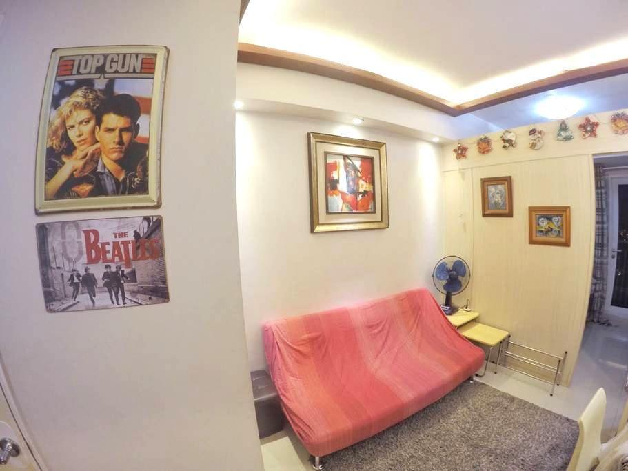 1BR Balcony Fully Furnished w/WiFi Grass Residence - Quezon City - Társasház