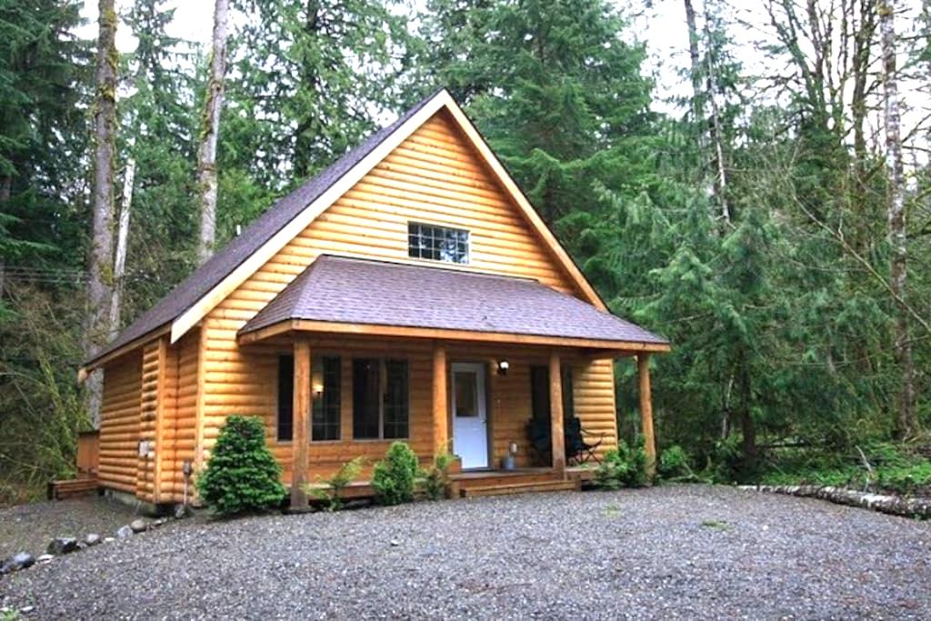 Mt. Baker Log Cabin: Hot Tub-Roku-Wifi-Sleeps 8 - 戴明(Deming)