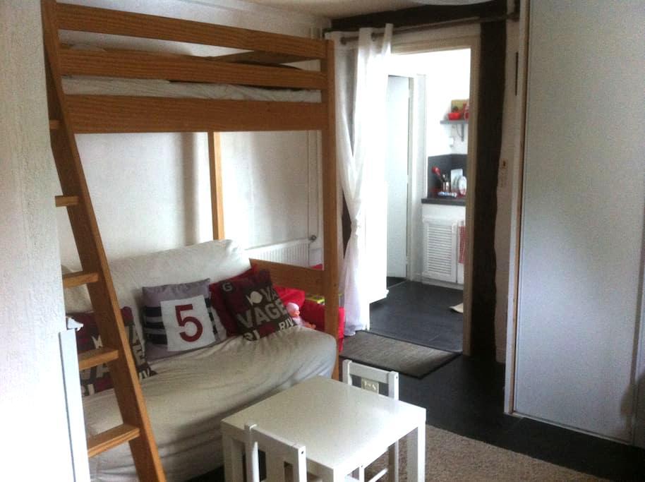 Studio 3 couchages en RDC dans maison familiale - Conflans-Sainte-Honorine - Daire