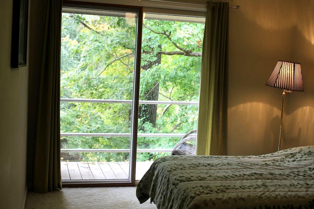 The Riverhouse: Bedroom w/ balcony! - Prospect