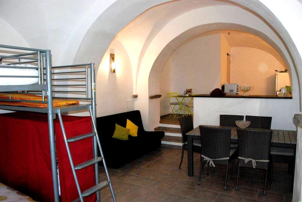 Studio de 50 m2 jardin vue mer - Pino - 公寓