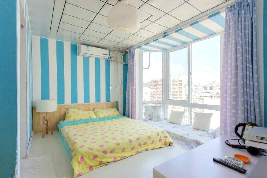 三亚湾海边一室一卫迷你榻榻米房  临近市区中心地段 - Sanya - Apartemen