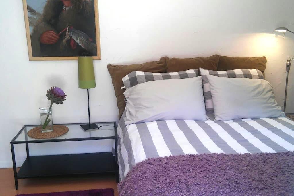 Clean quiet private bedroom & bath, private entry. - Vista - Maison