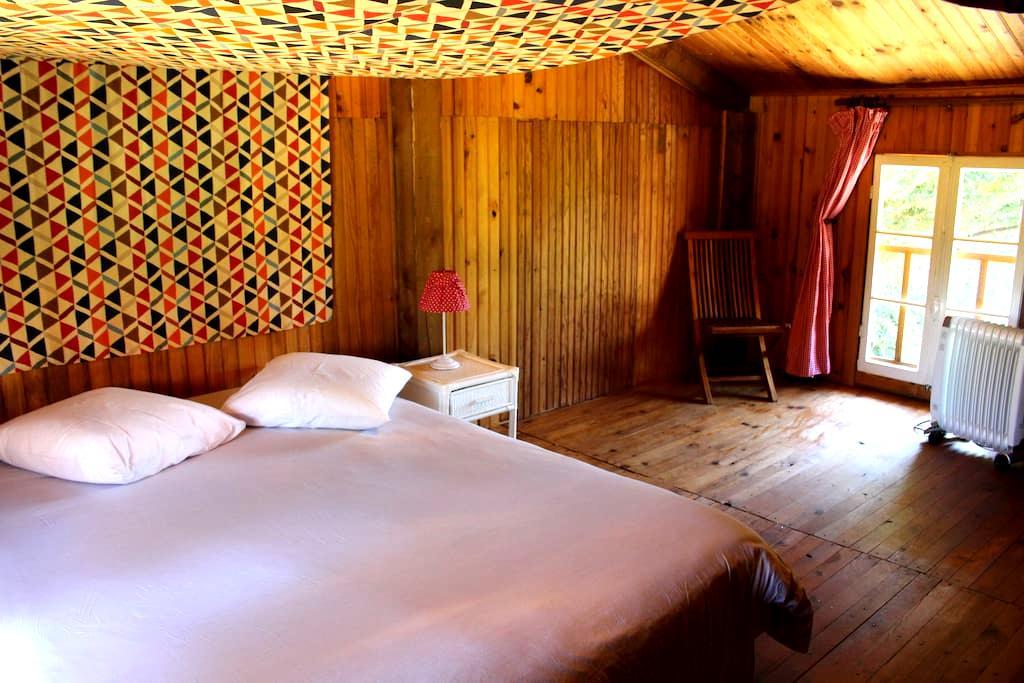 la petite maison en bois - Villeneuve-les-Cerfs - Natuur/eco-lodge