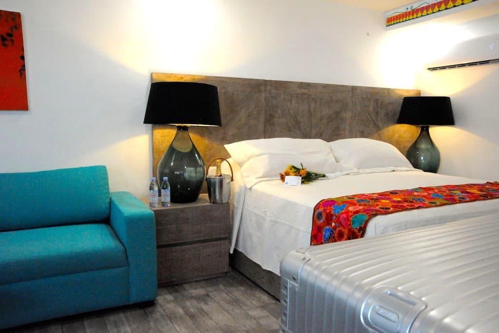 luxury suites. 50 sqm new ! Imox 1 - Isla Mujeres - Blockhütte
