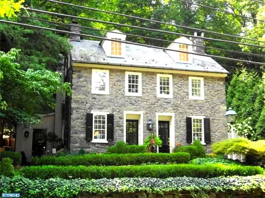 HISTORIC BUCKS COUNTY STONE HOME - New Hope