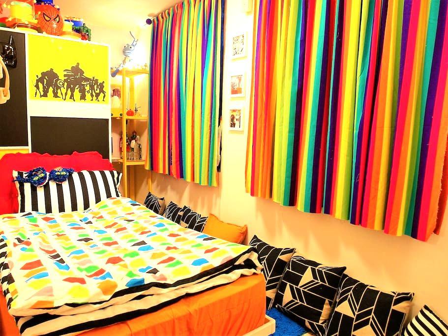 童話情境單人床房型,價格最低廉但環境最好的度假屋,可1-2人入住! - Beitou District - Nature lodge