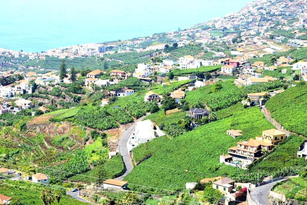 Une vue exeptionnelle sur montagne et mer - Estreito De Câmara - Huis