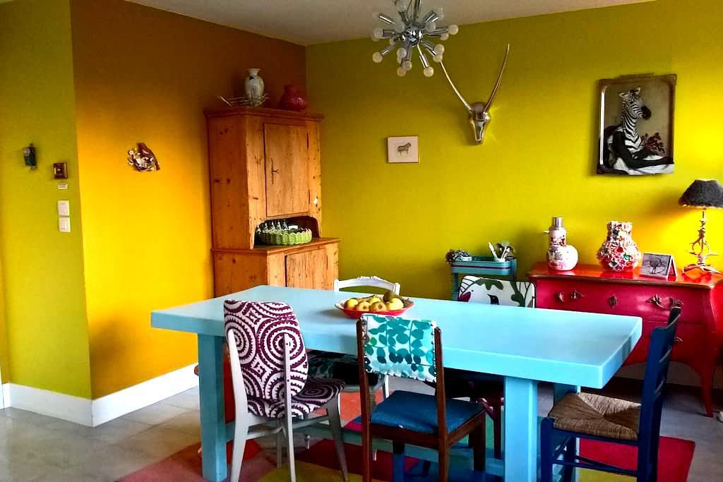 Chambre au calme avec entrée et terrasse privées - Caen - บ้าน