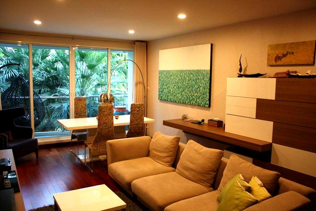 Cozy Condo, River View, 2bed/2bath - Bangkok - Lägenhet
