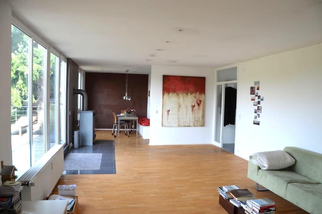 Loftartiges Wohnen mit herrlichem Ausblick - Rösrath - Apartament