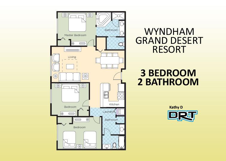 3Br Wyndham Grand Desert Resort A3 - Resorts for Rent in Las Vegas ...