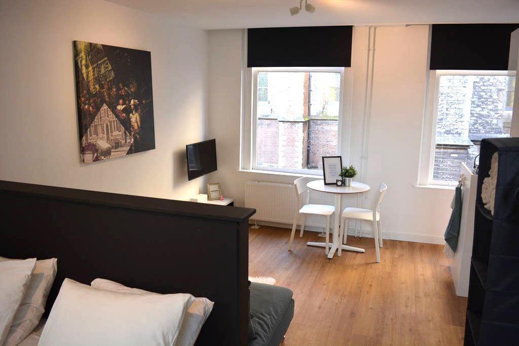 Modern studio apartment in historical city centre - Leiden - Appartement