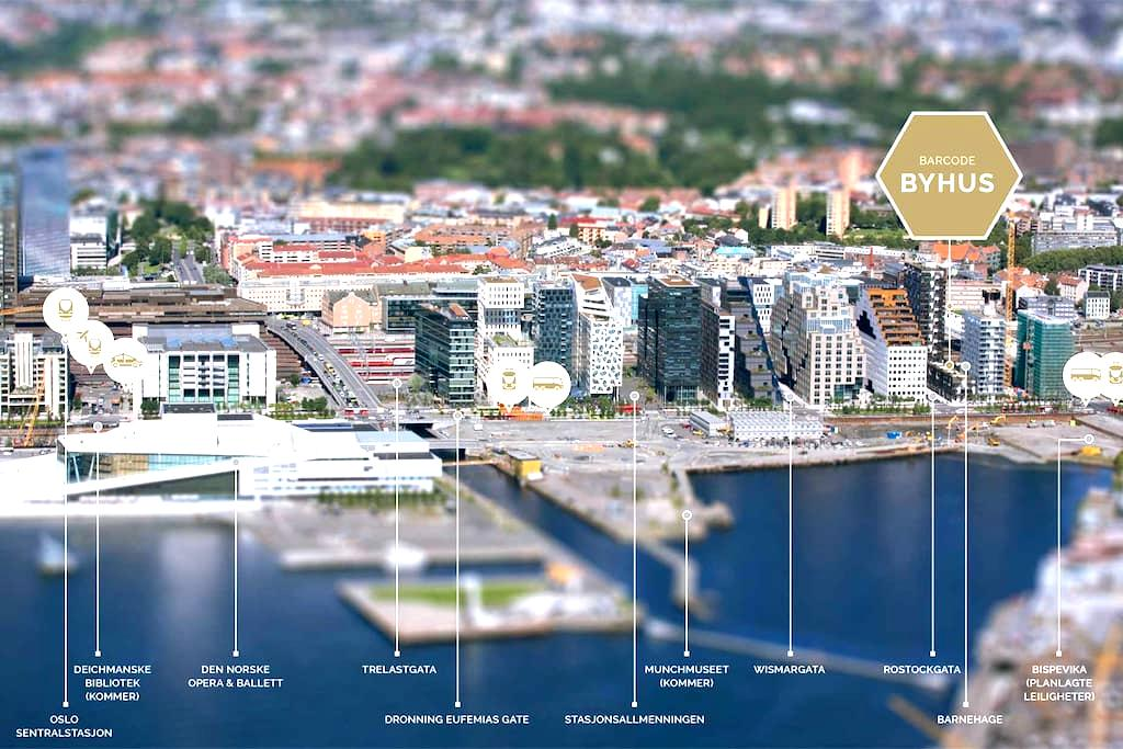 Enjoy Barcode, the very definition of Oslo - Oslo - Daire