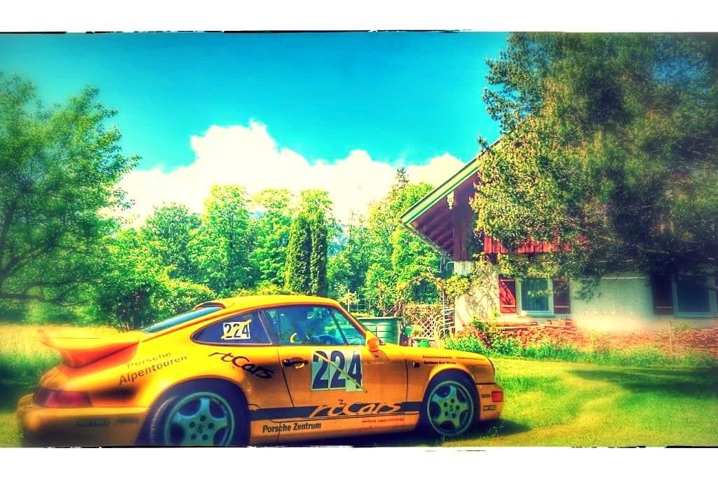2 Zi/Kü/Bad Bergblick 2-4 Pers Wohnung ggf Porsche - Lenggries - Condomínio