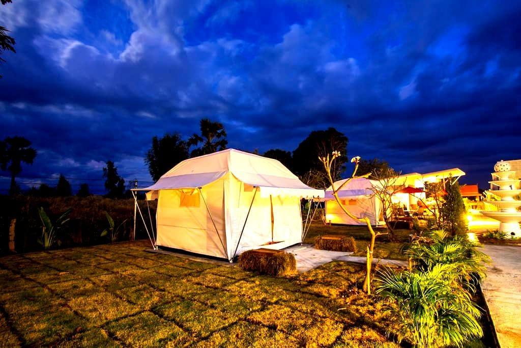 Private Tent RO@Bluemoon Riverside Resort Ubon - Phibun Mangsahan District