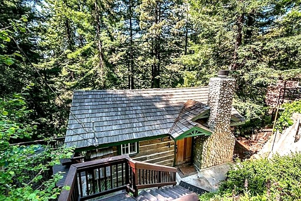 Majestic Redwood Cabin - Redwood City - Cabin
