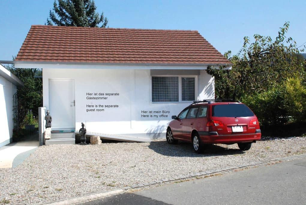 Gemütl. Gästezimmer mit Dusche/WC in Veltheim AG - Veltheim - Domek gościnny