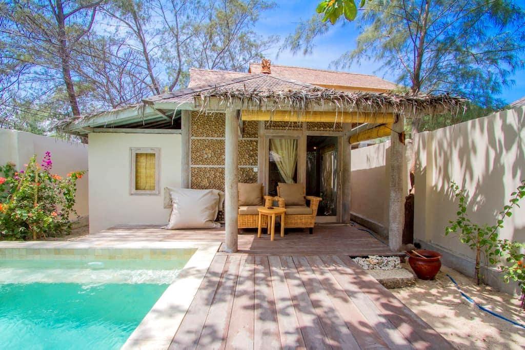 Villa DuaSembilan -Tropical villa in beachfront! - North Lombok Regency - Villa