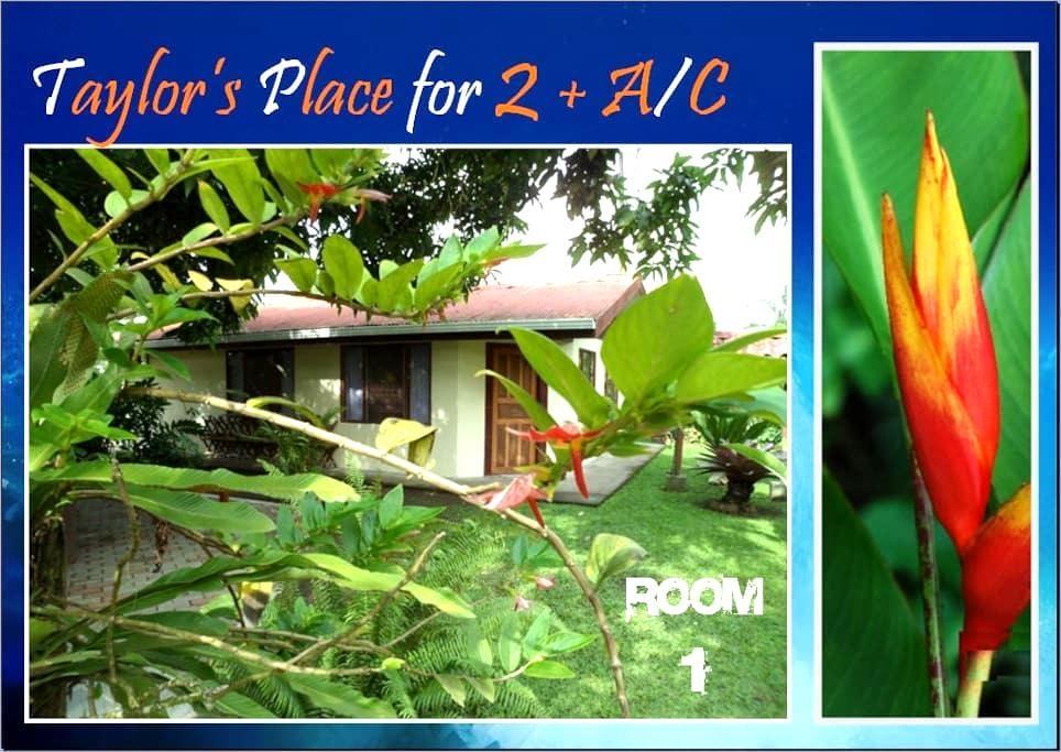 ►  SUN+FUN+A/C for TWO inTortuguero - Room #1 - Tortuguero