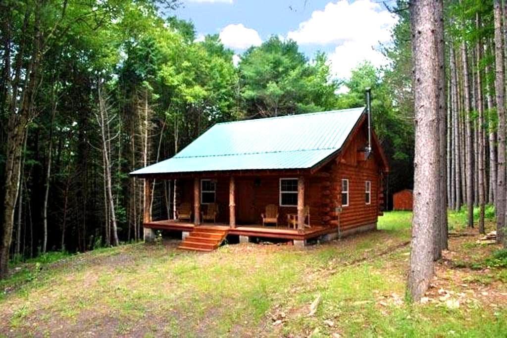 SECLUDED NEW BUILT LOG CABIN! Private In Pines! - Davenport - Blockhütte
