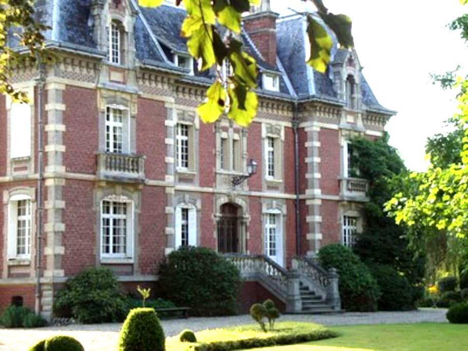 """Villa """"Les Prés"""" Chambre et sdb. - Criel-sur-Mer - Inap sarapan"""
