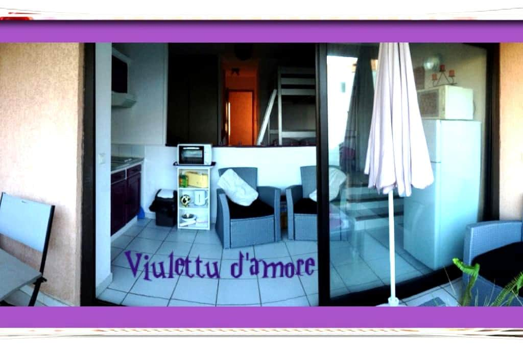 STUDIO Viulettu d'amore PISCINE/MER - Moriani