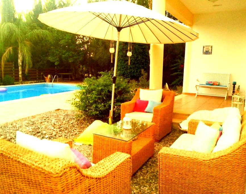 Mountain home with pool - Mesogi - Hus