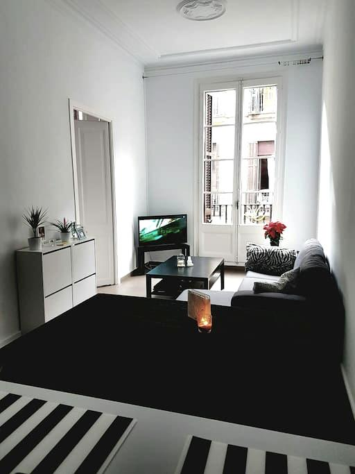 Cosy room in center (Placa reial) - Barcelone - Appartement