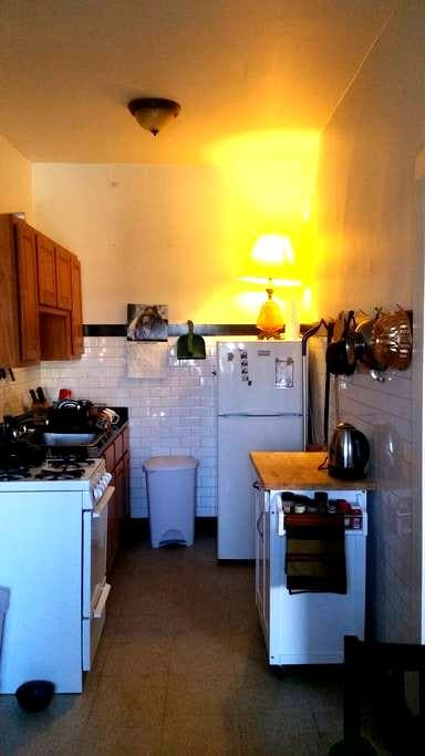 Sweet, colorful studio in diverse Old Irving Park - Chicago - Wohnung
