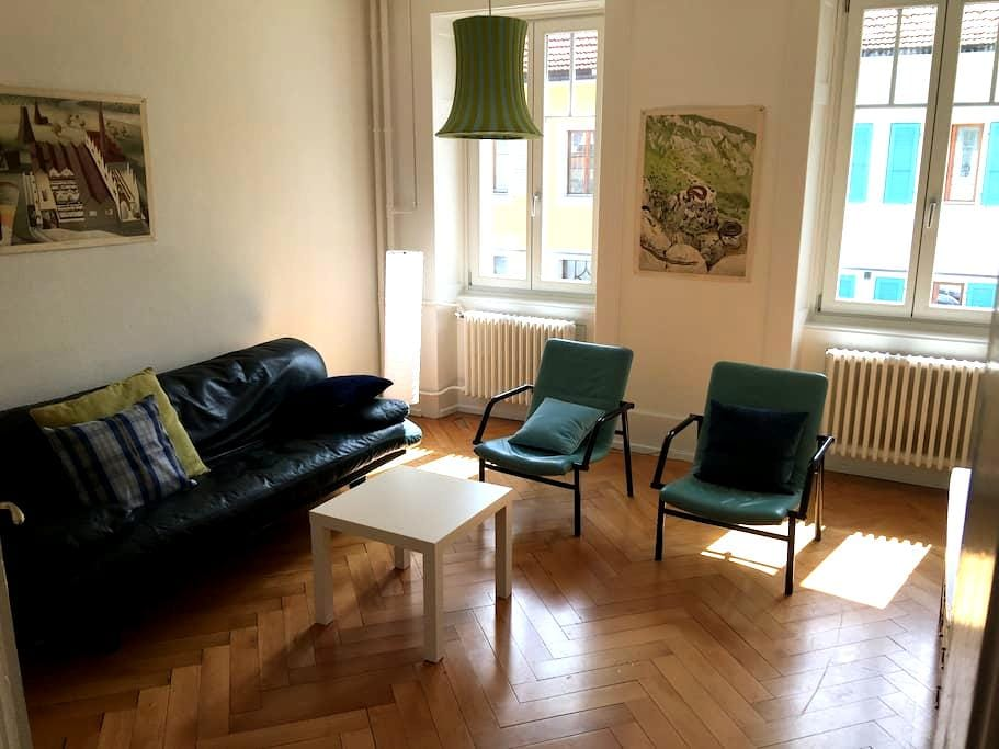 Nice 2 bedrooms and 1 living room. WIFI. - Saint-Imier - Apartemen