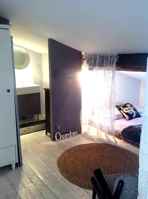 Grand espace privé pour 4 personnes - Libourne - Şehir evi