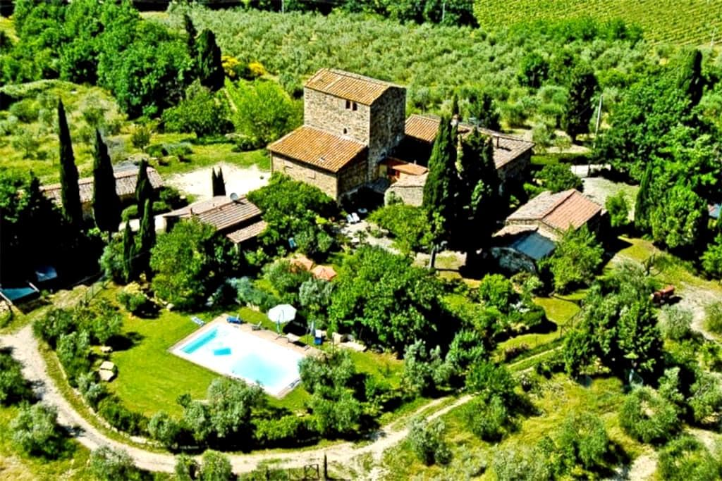 Fairy House with Pool, Chianti Area - Poggibonsi - Huis