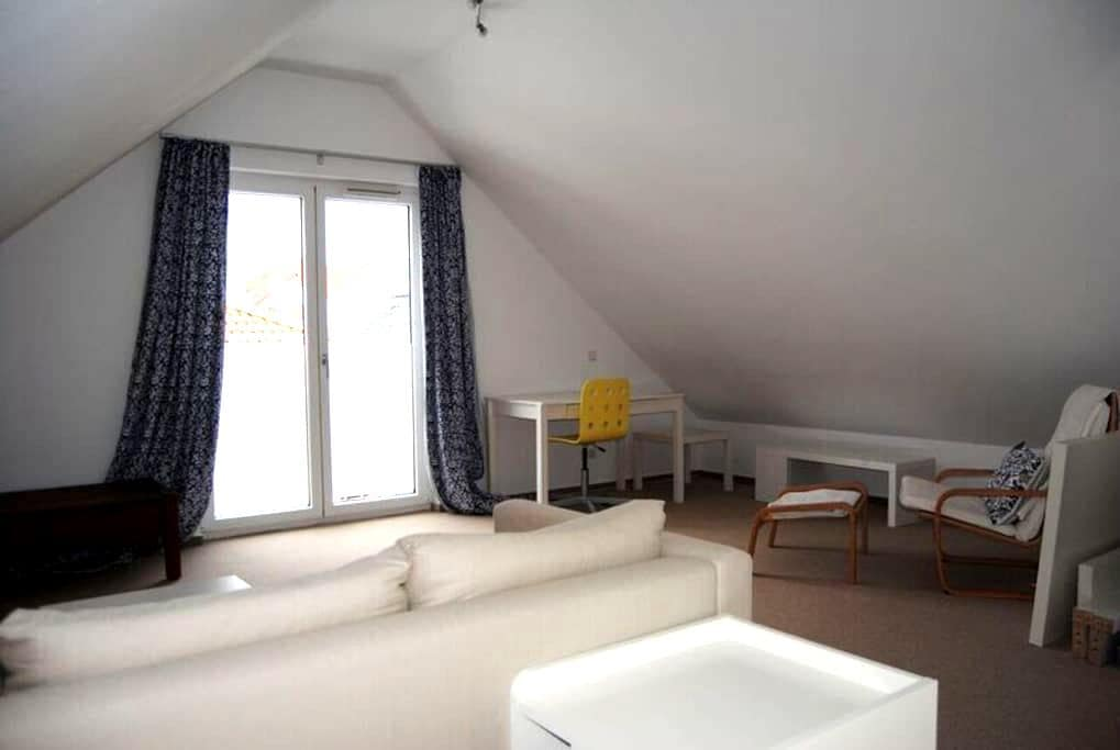 Ruhiges geräumiges Zimmer (S-Bahnanschluss 5min) - Karben