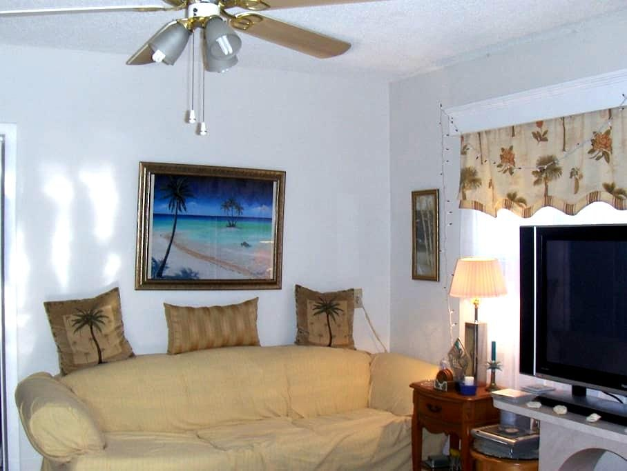 Comfy sofa in living room for short stay - Fort Lauderdale - Dům